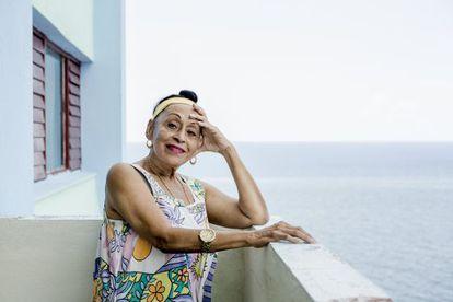 Omara Portuondo, en su casa de La Habana.