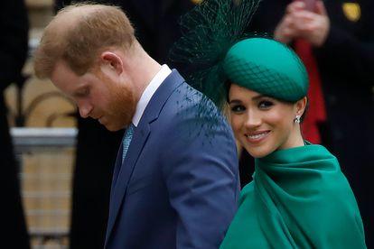 Enrique de Inglaterra y Meghan Markle, el 9 de marzo, en su último acto como miembros de la familia real británica.