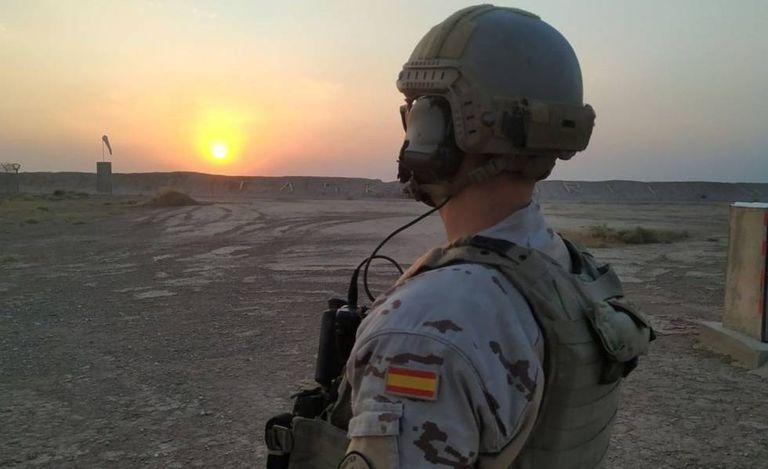 Un soldado español en la base Gran Capitán, en Besmayah, Irak. Instagram del Estado Mayor de la Defensa.