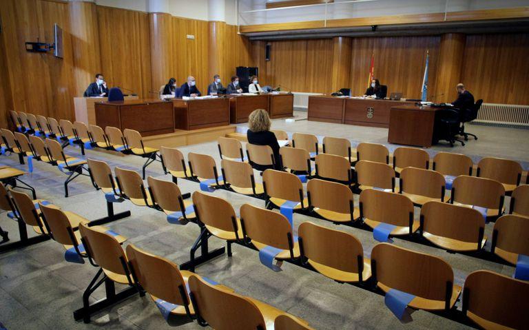 La vista sobre el Pazo de Meirás celebrada este miércoles en un juzgado de A Coruña.