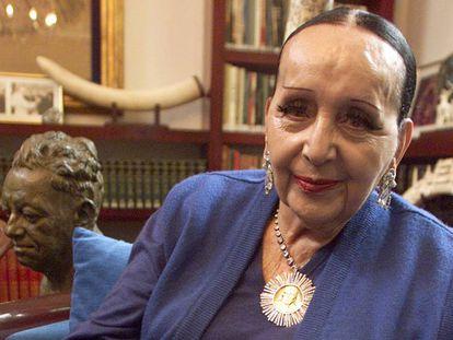 Dolores Olmedo, patrocinadora y amiga del muralista mexicano Diego Rivera