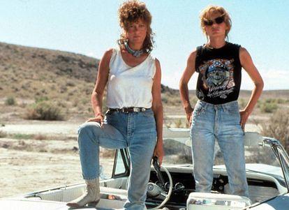 Susan Sarandon y Geena Davis –actrices abiertamente feministas– desarrollan la fortaleza de la mujer en 'Thelma y Louise'.