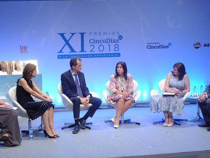 Directivas españolas de varias empresas, en un foro de Cinco Días con el ministro de Ciencia, Pedro Duque.