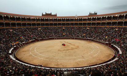 Vista panorámica de la plaza de toros de Las Ventas.