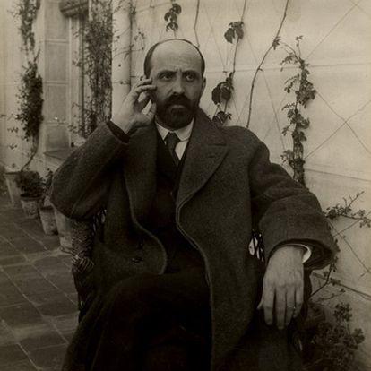 Juan Ramón Jiménez (Moguer, Huelva, 1881-San Juan de Puerto Rico, 1958, premio Nobel de Literatura 1956), fotografiado en 1923.