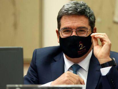José Luis Escrivá, ministro de Inclusión, Seguridad Social y Migraciones, en el Congreso.