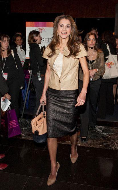 La reina Rania de Jordania, en una conferencia sobre mujeres en el mundo celebrada en Nueva York el pasado mes de marzo.