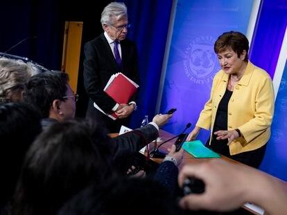 La jefa del FMI, Kristalina Georgieva, el pasado marzo en Washington.