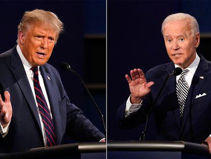 Trump y Biden, durante el debate de este martes.