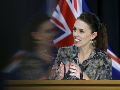Jacinda Ardern en una rueda de prensa en la capital neozelandesa, Wellington.