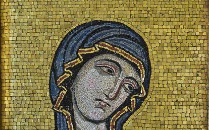 Mosaico bizantino del siglo XII creado para la Catedral de Palermo.