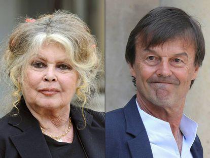 Brigitte Bardot y el ministro de Transición Ecológica, Nicolas Hulot