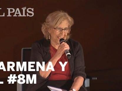 """Carmena: """"Nos oponemos al progreso si cuestionamos el feminismo"""""""