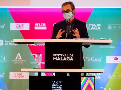El director del Festival de Cine de Málaga en Español, Juan Antonio Vigar, durante la presentación de su 23ª edición.