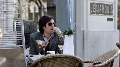 Carlos Lirio, ayer, en la terraza del hotel del jurado.
