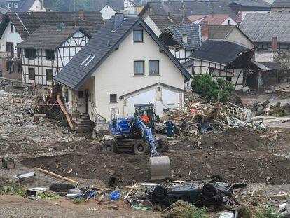 Casas destruidas por las riadas en el pueblo alemán de Schuld, este 17 de julio.