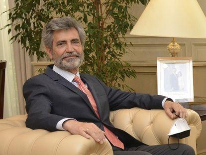 El presidente del Consejo General del Poder Judicial, Carlos Lesmes, el pasado 27 de julio.