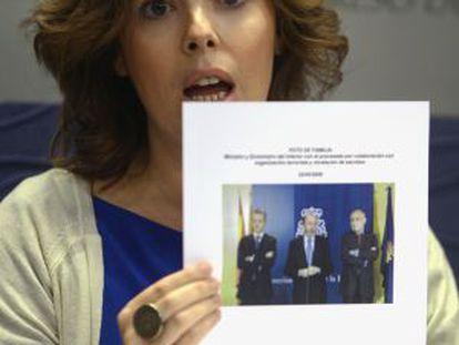 Soraya Sánez de Santamaría, en la rueda de prensa posterior a la sesión de control al Gobierno