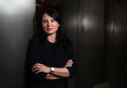 Nina Gregori, directora de la Oficina Europea de Apoyo al Asilo, en un hotel de Madrid a mediados de mayo.