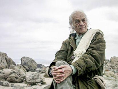 Nicanor Parra, en 2009, en Las Cruces (Chile).