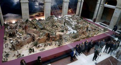 Inauguración del belén en la Comunidad de Madrid.