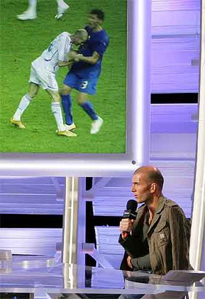 Zidane, en la entrevista en Canal+ Francia en la que explicó su agresión a Materazzi.