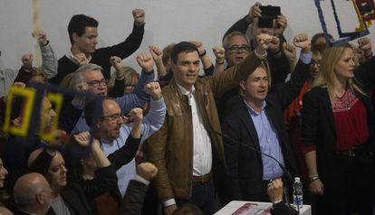 El exsecretario general del PSOE, Pedro Sánchez, en el acto celebrado en Castellón.