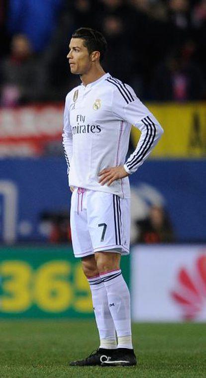 Cristiano, durante el partido.