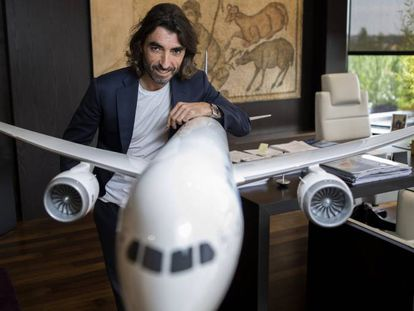 Javier Hidalgo, CEO de Air Europa, el pasado jueves en su despacho de la compañía en Pozuelo (Madrid). .