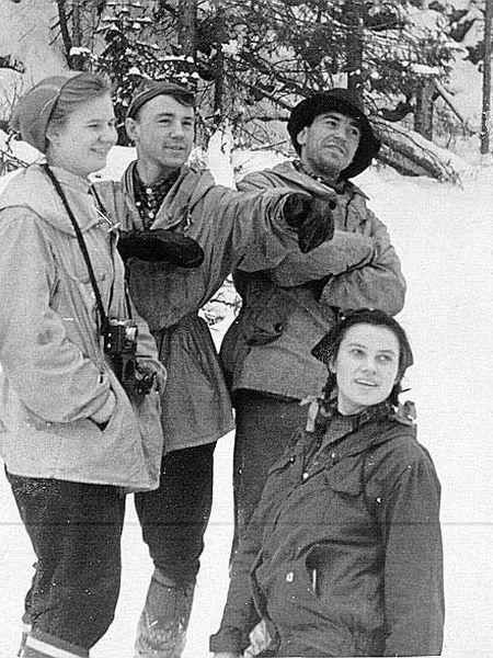 Liudmila Dubinina, Rustem Slobodin, Nikolai Thibeaux-Brignolle y Zinaída Kolmogórova.