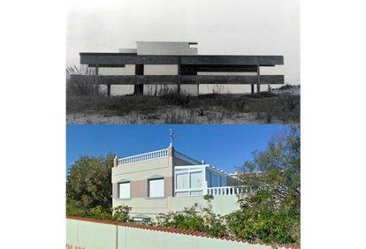 Sí, la original permanece ahí, debajo de las capas de cemento y yeso pintado de verde pastel que han ocultado la estructura limpia y de estilo racionalista que el estudio Corrales y Molezún (el mismo del Edificio de los Hexágonos) proyectó en 1967.