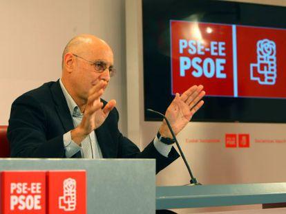 Ares, durante su comparecencia en Bilbao.