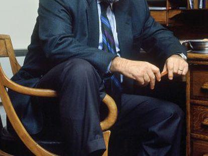 Umberto Eco, en su casa en París en 2001.