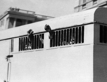 El furgón que trasladó a prisión a Mandela en 1964.