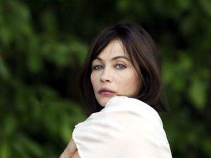 La actriz francesa Emmanuelle Béart, ayer en Madrid