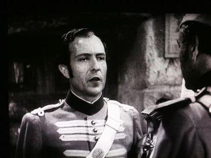 Un fotograma de 'Carmen la de Triana' (con su protagonista masculino, Rafael Rivelles), tras la restauración de Mercury Films.