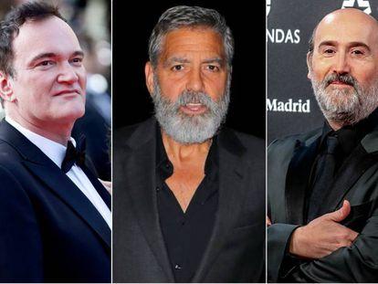 Quentin Tarantino, George Clooney y Javier Cámara.