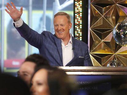 Sean Spicer, durante la presentación de los participantes de la nueva temporada de 'Dancing With the Stars' el pasado miércoles.
