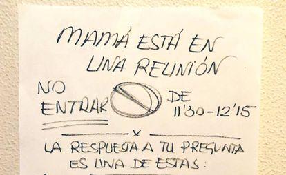 Cartel de Susana García en Twitter.