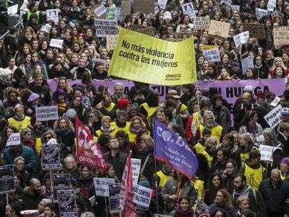 Manifestación contra la violencia machista en Madrid en noviembre pasado.