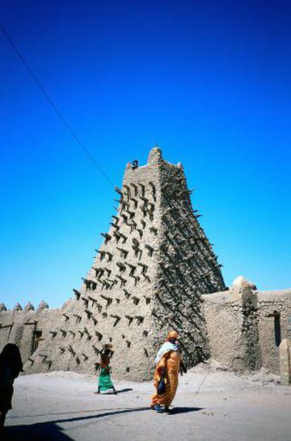 La mezquita de Sankore, con su minarete piramidal.