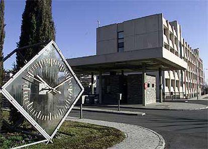 Interior del complejo del Centro Nacional de Inteligencia (CNI), en Madrid.