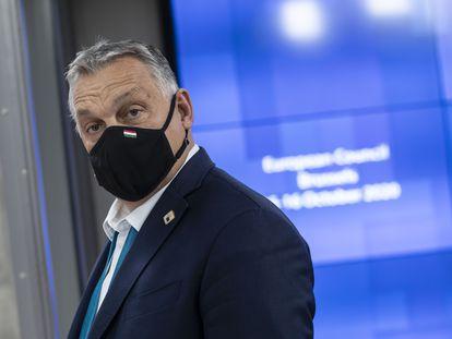 El primer ministro húngaro en una reunión del Consejo europeo el pasado 16 de octubre en Bruselas.