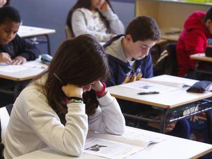 Alumnos de 6º de Primaria de un centro público de Madrid.