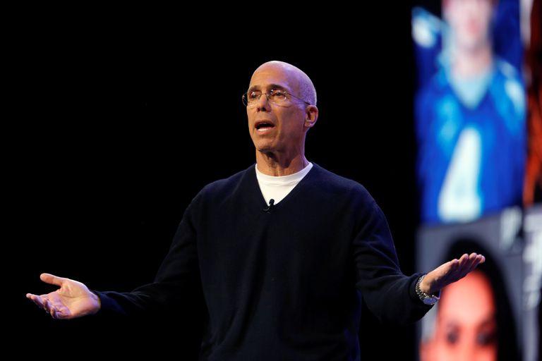 Jeffrey Katzenberg presenta la plataforma Quibi en Las Vegas, el pasado enero.