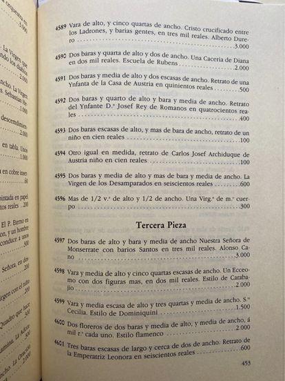 Real inventories: Carlos III.  Volume II.  Madrid: National Heritage, 1989, prepared by Fernando Fernández Miranda