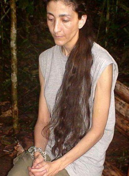 Ingrid Betancourt, en una de las últimas imágenes que se difundieron hace unos meses