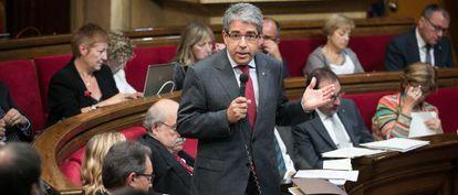 Francesc Homs, en el Parlament, en una foto de archivo.