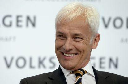 Matthias Mueller, nuevo presidente ejecutivo de Volkswagen, en una imagen de marzo pasado.