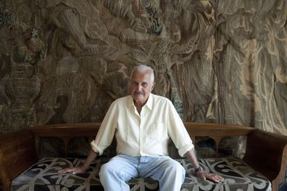 El escritor Carlos Fuentes, fotografiado en Barcelona en la presentación de su ensayo 'La gran novela latinoamericana', en 2011